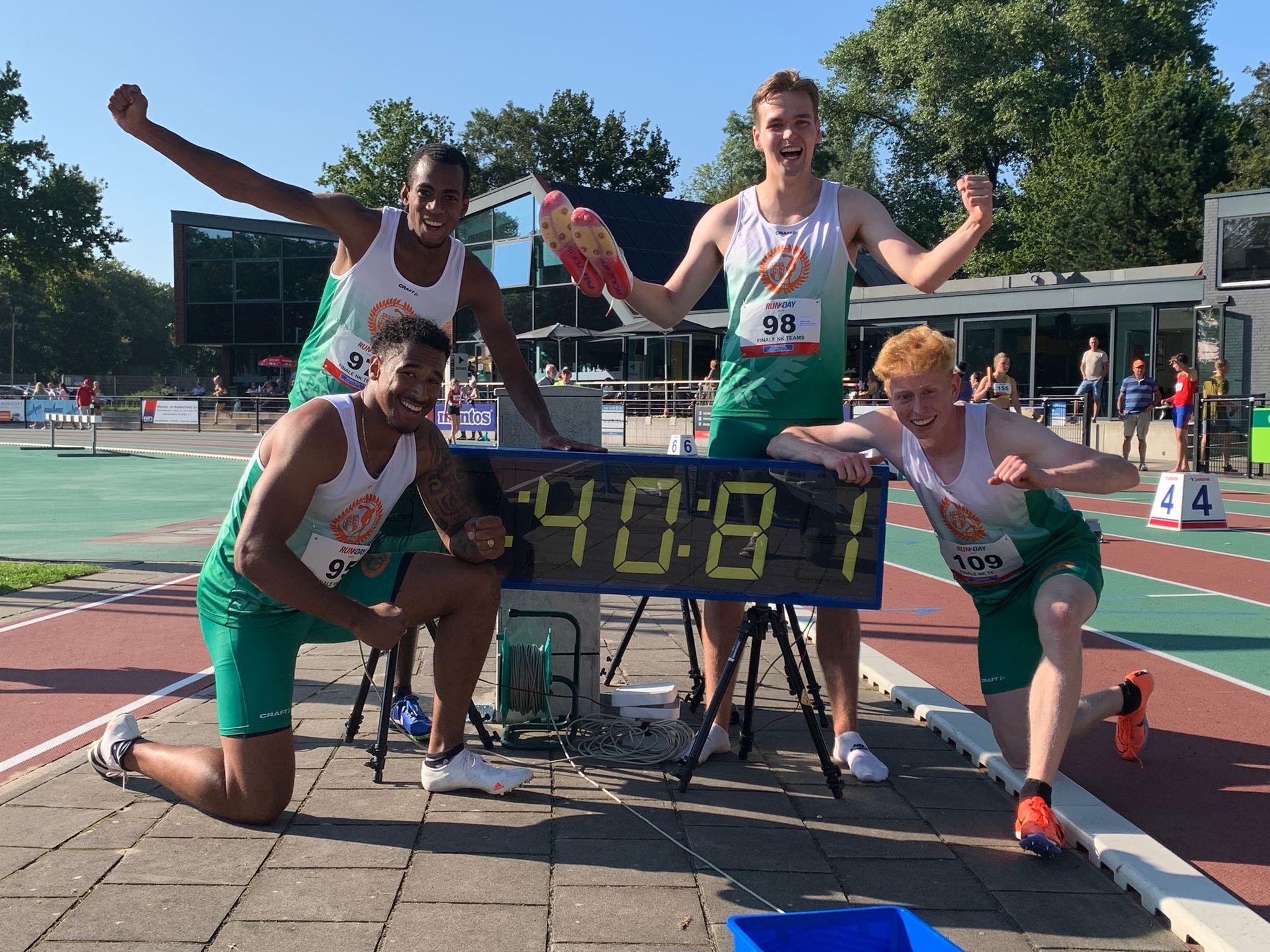 Damian, Isiah, Mark en Timo Nederlands Record