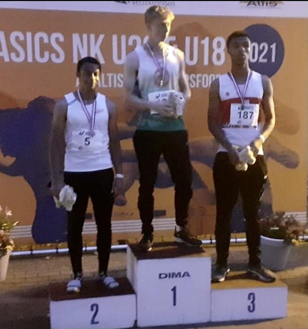 Timo spiering goud op 100m